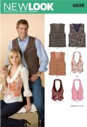 6839 New Look Pattern: Misses' and Men's Waistcoats